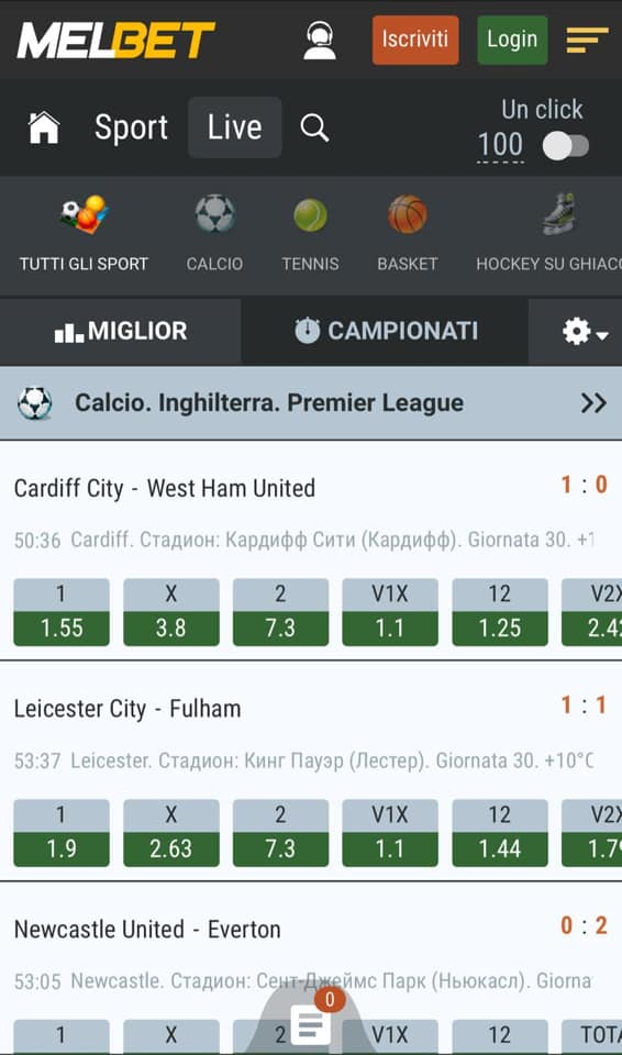 Scommesse Live Mobile